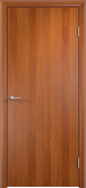 Межкомнатная ламинированная дверь глухая гладкая от производителя дверей эконом класса фабрики Верда