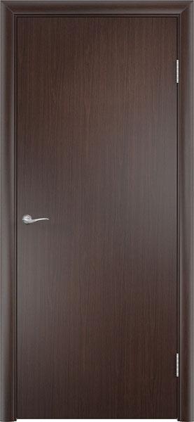 Глухая гладкая дверь венге эконом класса от производителя фабрики Верда