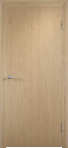 Глухая гладкая дверь беленый дуб эконом класса от производителя фабрики Верда