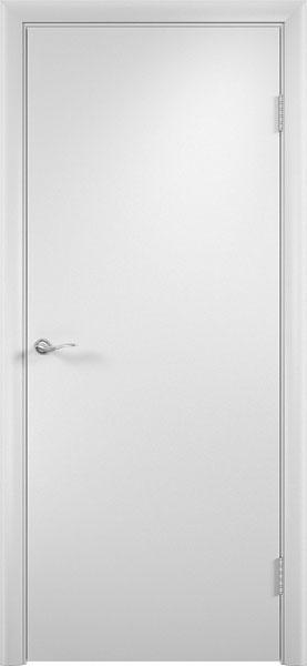 Белая глухая гладкая ламинированная дверь производства фабрики Верда