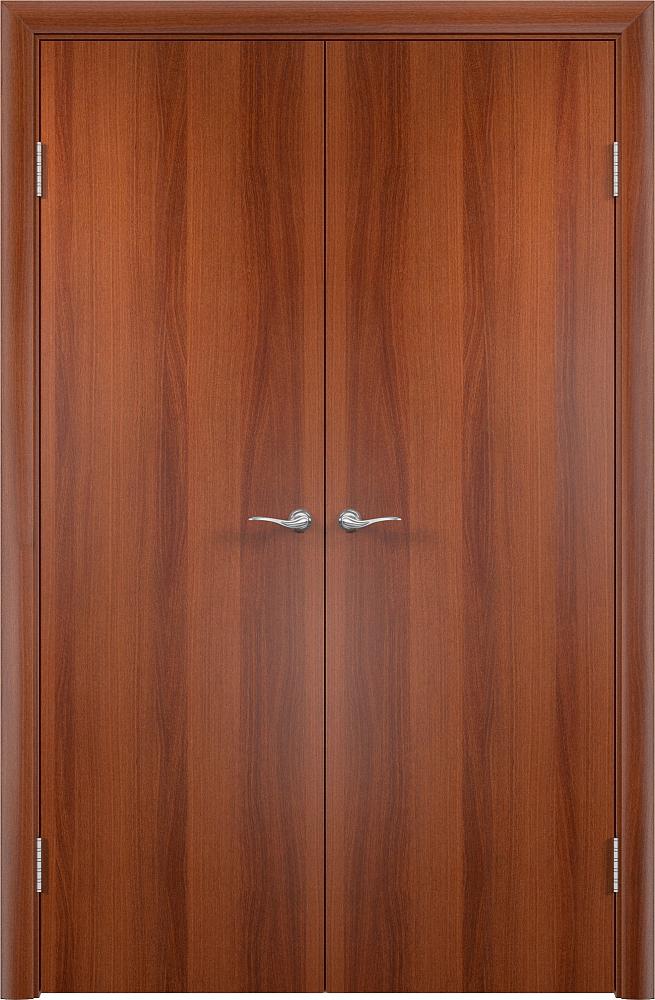 Фото недорогой распашной двери ДПГ итальянский орех