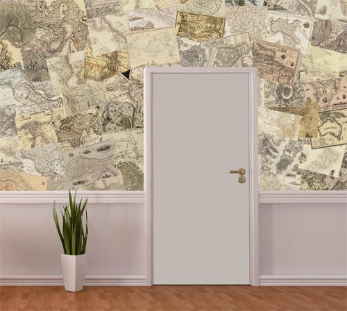 Фото белой глухой двери ДПГ в интерьере